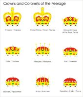Crowns and Coronets of the Aquilaan Empire by Ienkoron