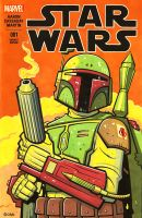 Boba Fett sketch cover 3 by JasonGoad