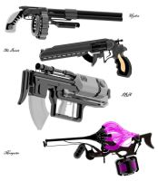 3d weapon collaboration by malmida