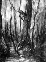aSKETCH nearHOME - DAY IN THE WOODS by ETsVOXetANIMA
