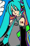 vocaloid hatsune miku  by Bluedragoncartoon