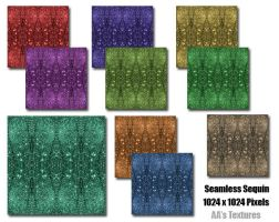 Seamless Sequin Second Life Texture Collection by AmethystArmor