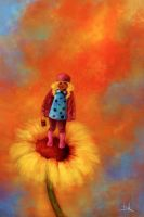 The Girl of Sunflower by luiskaan