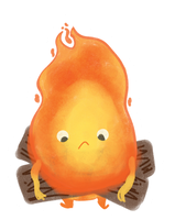Calcifer sticker by ditto9