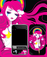 iphone skin- hail rainbow by Blush-Art