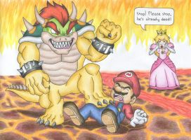 Bowser Makes Peach Watch by FantasyMystic