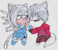 PC Chibi Style 2 Shaded:. Klaus X Crystal by Sam-the-wolf147