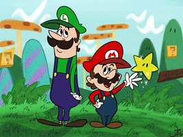 Hanna-Barbera Style Super Mario Bros by Bradshavius