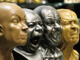 FRANZ XAVER MESSERSCHMIDT    sculpture   heads   a by VanGogui