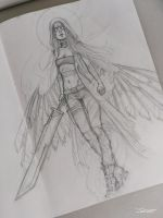 Angel sketch by sashajoe
