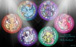 MLP:FiM Stained Glass Wallpaper by Akili-Amethyst