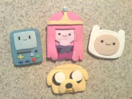 Adventure Time Magnets by KitschyCustomCrafts