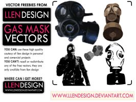 FREE GAS MASK VECTORS by llendesign