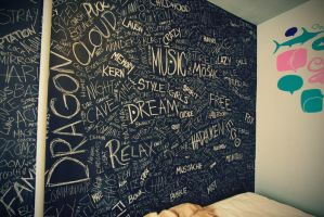chalkboard word wall by malik