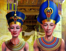 Nefertiti and Pharaoh by snowsowhite