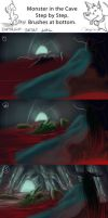 Monster in the Cave- Step  by Step by SKTAF