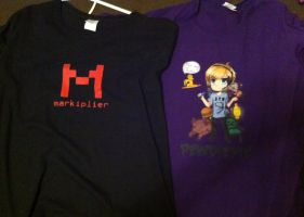 Markiplier and Pewdiepie T-shirts by StitchedSmile1