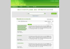 Website Dictionnaire ancien, essai by JFDC