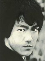 Bruce Lee in watercolor by amarilli