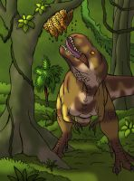 Treat for Tarbosaurus (Colored Version) by DaBrandonSphere