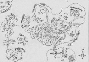 map of equestria and other lands by grox42