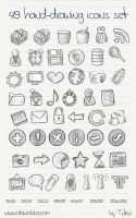 49 hand-drawing icons set by Tutsii