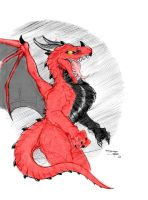 Western Dragon - On Color by GRAVEMIND1110