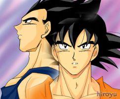 Goku and Vegeta 3 by hiroyu732
