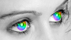 Rainbow Eyes by PureDeluxe