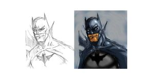 Quick Paint Batman by Art-Of-Malacai-Brown