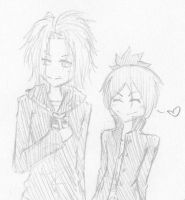 Levon and Mukuro Chibi's by TrollerBridge