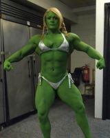 Lisa-Hulk by areaorion