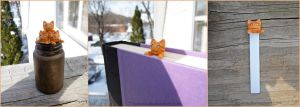 Longcat inspired Bookmark- Orange Tabby version by Tsurera