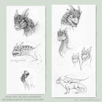 Dragonheart doodles 4 by Strecno