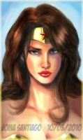 Wonder Woman quick sketch by joma33