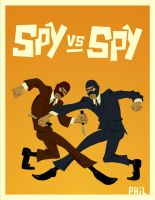 Spy Vs Spy by robotbreath