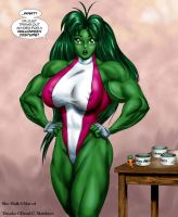 Tetsuko as 'She-Hulk' by DavidCMatthews