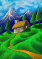 Mountain top Cottage by nemesisenforcer