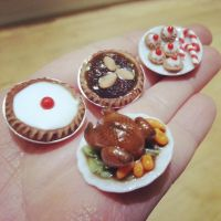 Miniature Christmas Feast by kirstipoo