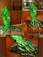 Giant Squid Plushie by KrowKills