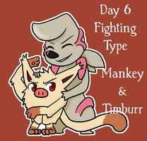 Pokeddexy '13  06/31 Mankey and Timburr by Sixala