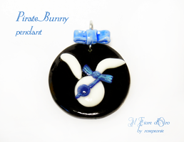 Pirate bunny pendant by rosepeonie