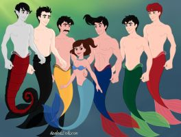 Me and My Favorite Fictional Crushes as Mer-Folks by Toongirl18