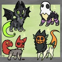 Halloween Adopts by Spashai
