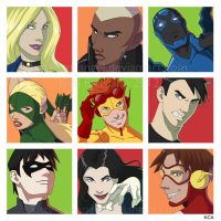 Young Justice Assortment by Kitty-Cat-Angel