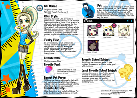 Monster High OC: Laci Moirae by MsChamomile