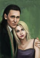 [commission] Loki and a girl by slugette