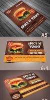 Spicy Burger Flyer by Saptarang