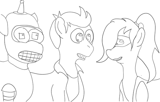 Futurama Sketch by BikeBrony