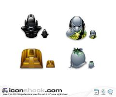 Alien Vs Predator sigma icons by Iconshock